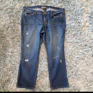 New York & Company Jeans - New York & Co Blue Distressed Skinny Jeans Size 18